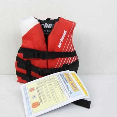 Airhead Ramp Childrens 30-50 Lb Boating Tubing Red Life Vest Jacket - New