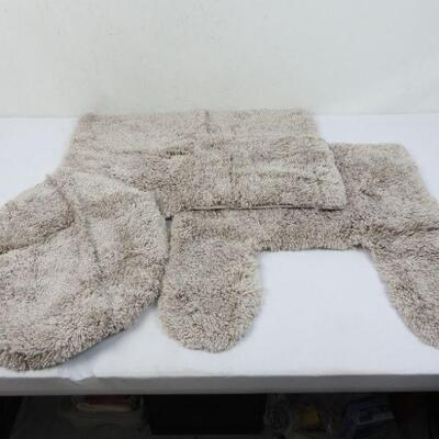 Grey BH&G Thick & Plush 3-Piece Bath Rug Set, 17