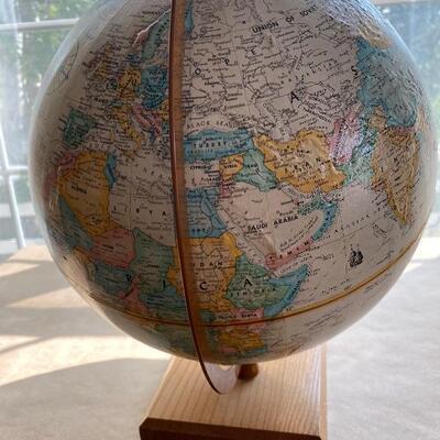 Vintage globe atlas for school