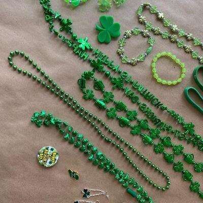 St Patrick's Day jewelry Marduk Grás Holiday bead lot