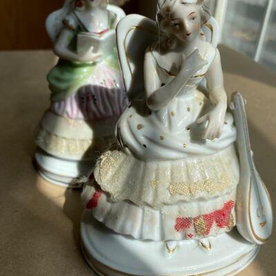 Pair of porcelain ladies