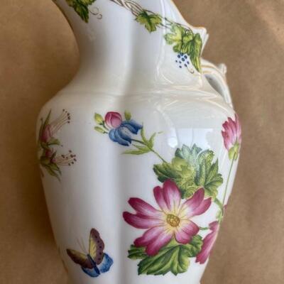 Botanical themed porcelain China pitcher