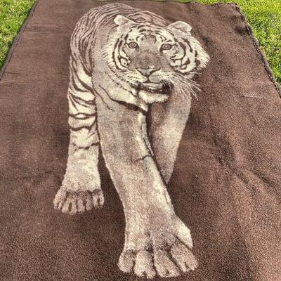 Vintage Tiger throw