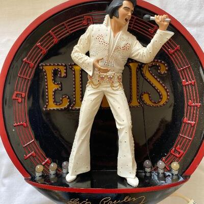 Elvis collector plate lot 5 including electric music player