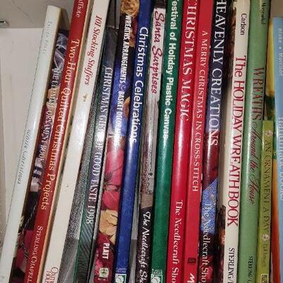 Lot of Christmas Crafting Books Shelf 18A