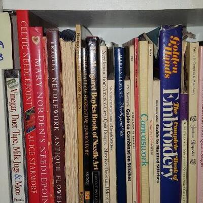 Lot of Needlepoint Books Shelf 19B