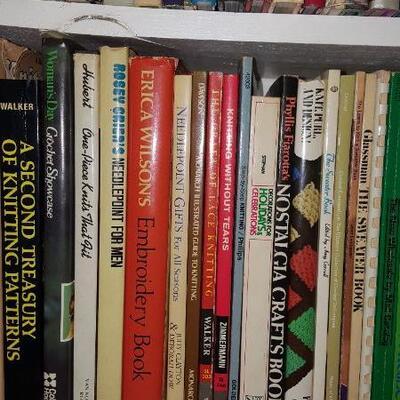 Lot of Knitting Books Shelf 20b