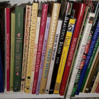 Lot of Crafting Books Shelf 20A