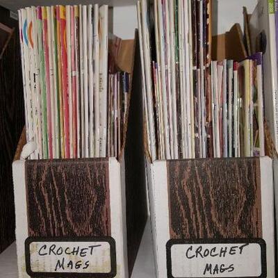 Lot of Vintage Crochet Magazines Shelf 21A