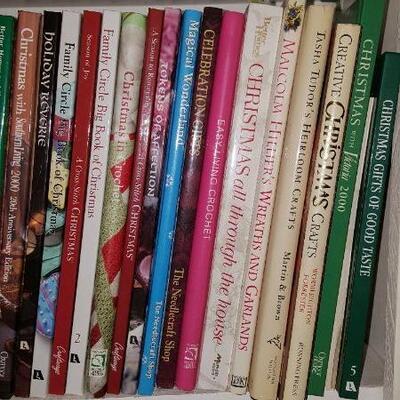 Lot of Christmas & Craft Books Shelf 21B