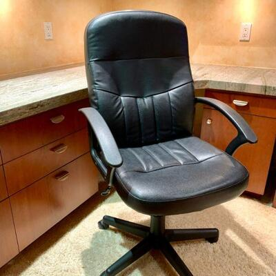 PT3#13   EXECUTIVE OFFICE DESK CHAIR FAUX LEATHER SWIVEL ADJUSTABLE