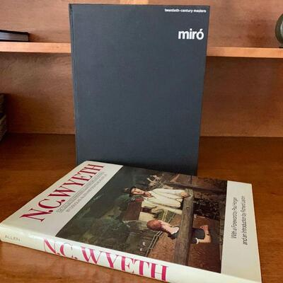 PT3#27  ART BOOKS MIRO & N C WYETH
