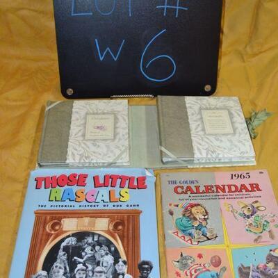 Lot#6 Little Rascals hardback, Antique Calendar, and Cute Scrapbook