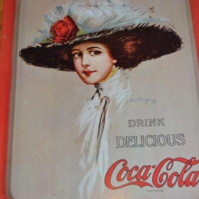 Lot#8 Vintage Coca Cola metal tray