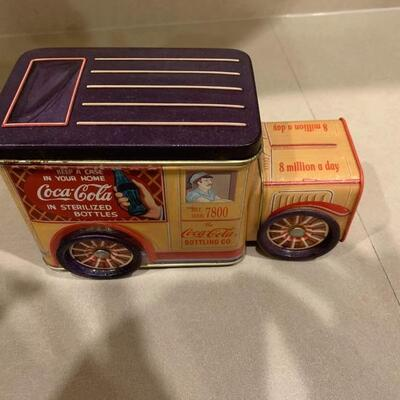 2 vintage Coca Cola trucks! One die cast one tin