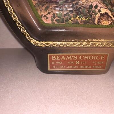 Vintage Jim Beam whiskey bottle