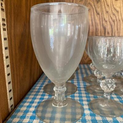 Water Goblets and Cordial Glasses