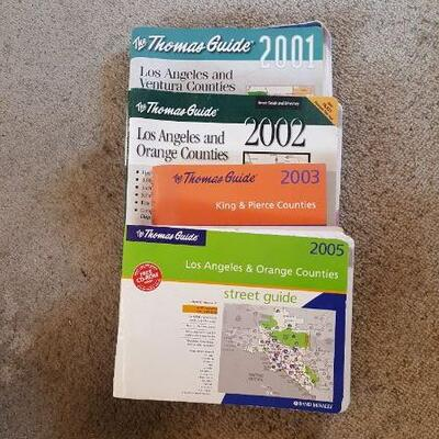 Lot of 2001-2003 + 2005 Thomas Guides