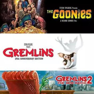 Brand new! Triple blue ray movies! Goonies,Gremlins and gremlins 2