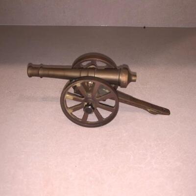 Vintage brass cannon knickknack