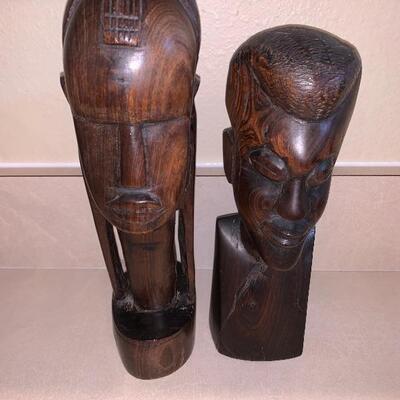 2 African tribal decor set