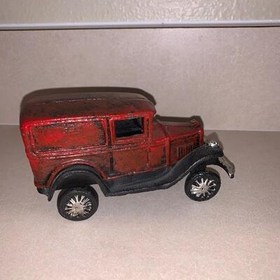 Cast iron plane, car and truck