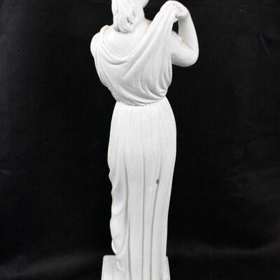 Vintage Statue, Woman in Dress, Greek/Roman/Italian?