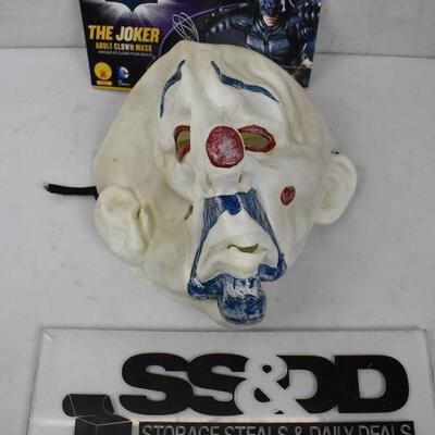The Dark Knight JOKER Mask, adult size. Broken elastic
