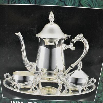 4 pc Coffee Set, Silver Plated, Needs Cleaning, Includes Box, Vintage 1997
