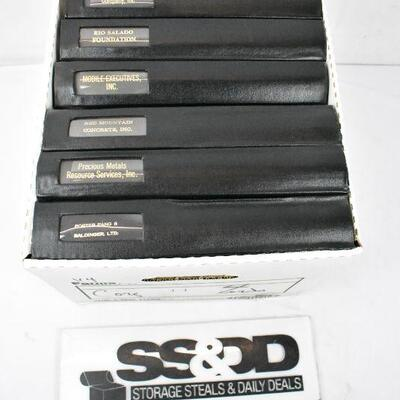 8 Black Binders of Corporate Records: Porter Pang -to- Southwest Car. Vintage
