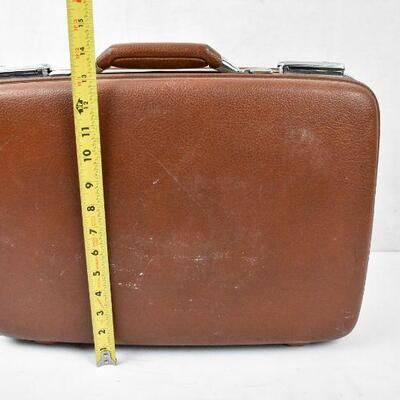 Hardside Suitcase, Brown with Green interior by American Tourister