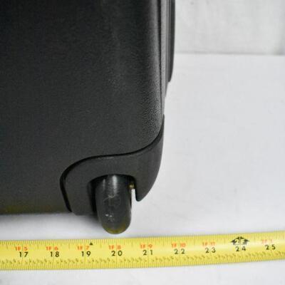 Black Samsonite Suitcase, Large, with Wheels & combo lock