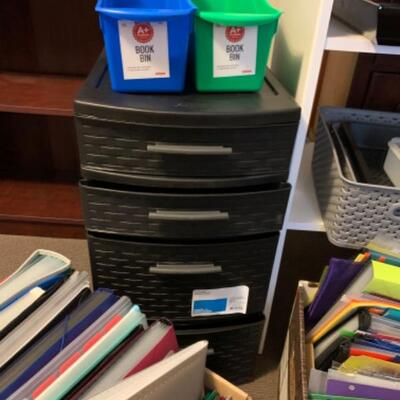 21. Office organizer supplies, shelving, file drawers, storage containers