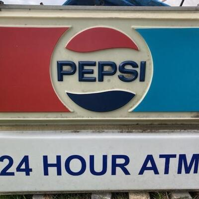 Lot#59 Large Double Sided Lighted Pepsi sign