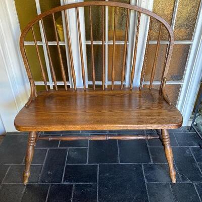 Oak Spindle Bench