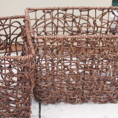 3 Large Decrotive Baskets
