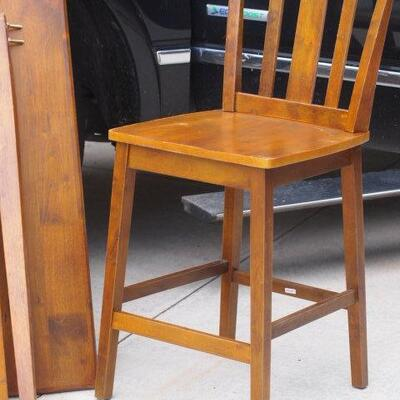 New High Top Dining Table and 4 Wood Chairs