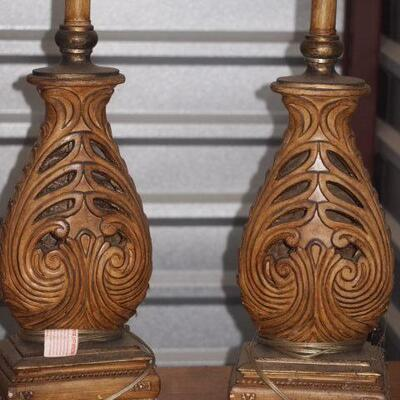 2 Lamps Wood in Great condition