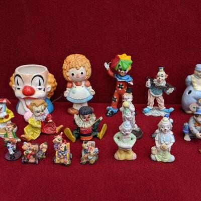 Vintage clown figurine collectibles