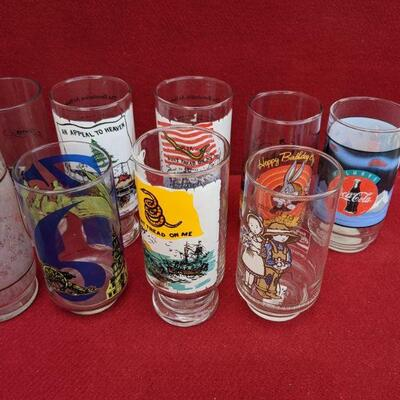 Random art glass cups