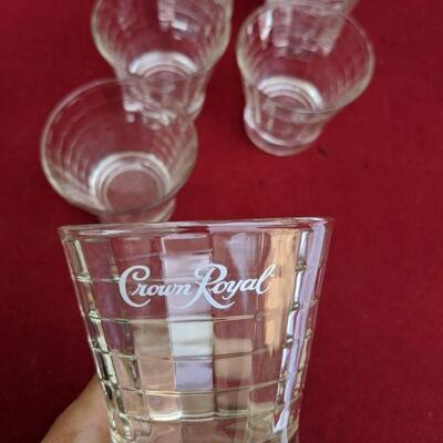 Vintage crown royal glasses 6pc set