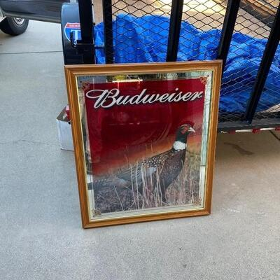 Big Budweiser Bar Mirror