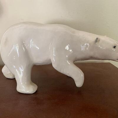 Large bear figurine, signed by artist Joli, Canada