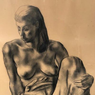 Lot 1 - Large Francis De Erdely Drawing