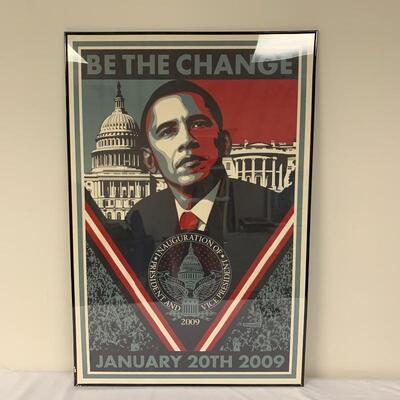 Lot 10 - Shepard Fairey Numbered Obama Print & Inauguration Poster
