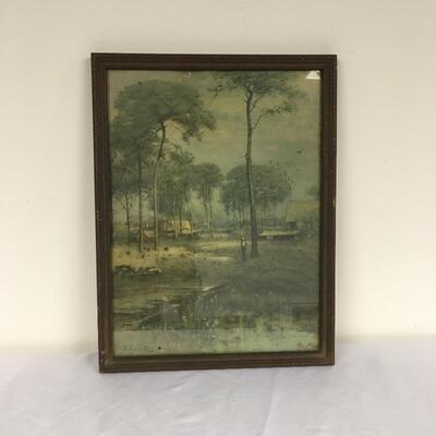 Lot 12 - Vintage Framed G. Inness Print of Tarpon Springs