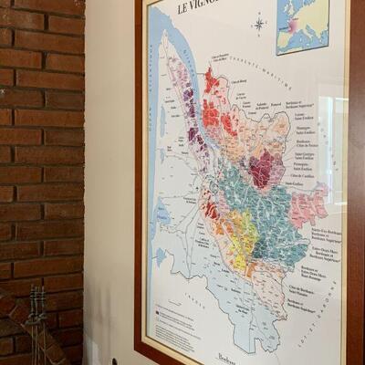 LOT 2 Framed Map of Bordeaux