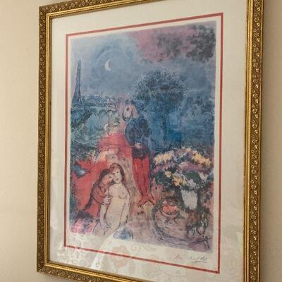 LOT 8 Framed Print Marc Chagall