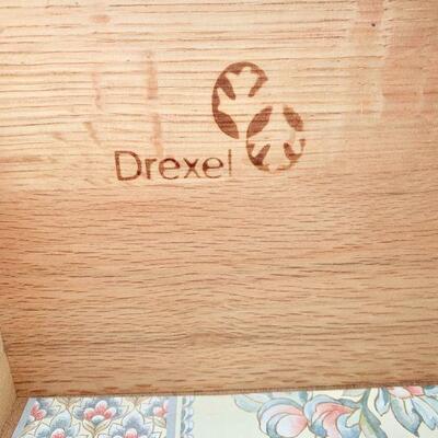 LOT 13  VINTAGE DREXEL FRUITWOOD HIGH BOY FLAT BRASS HARDWARE