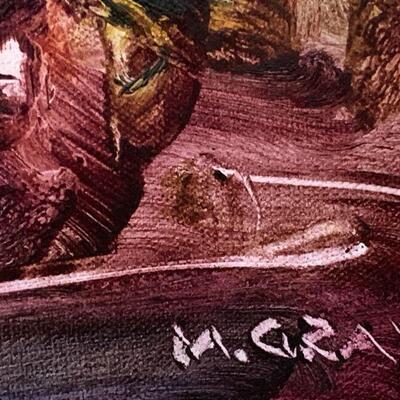 LOT 14  FINGER PAINTING ARTWORK SIGNED M. GRAY